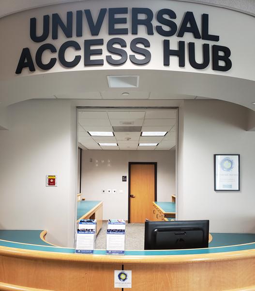 Universal Access Hub desk